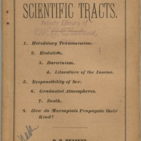 Eight scientific tracts.
