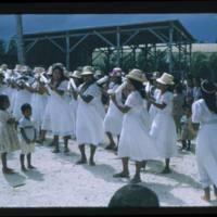Women Dancing - Wotje Boat Launch - Majuro 1952
