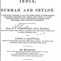 Butterflies of India, Burmah and Ceylon (Volume I)