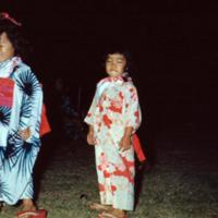 Youngsters at Bon Festival, Ala Moana Park, Waikiki.…