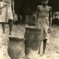 [Boy with pottery]