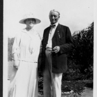 Woman and Man Standing In Outdoor Terrace
