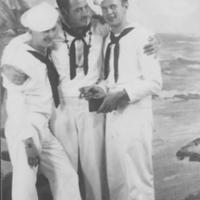 Three standing Sailors in uniform
