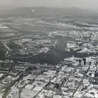 Aerial View [Reef runway, downtown Honolulu]