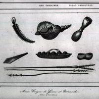 Iles Carolines; Armes, Conque de Guerre et Ustensiles