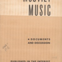 On Soviet music: documents and discussion.
