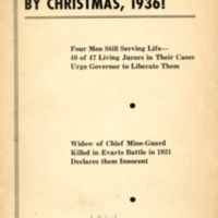 Free the Harlan miners by Christmas, 1936!