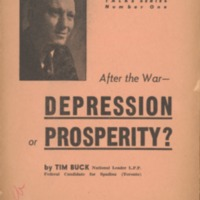 After the War: Depression or Prosperity?
