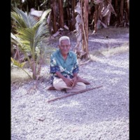 Aitab. Photo shows typical Marshallese sitting…