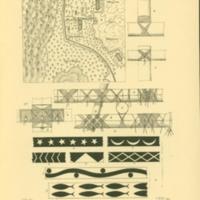 Anordnung einer yapschen Strand- oder Uferbehausung,…