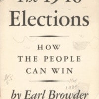 1940 Elections: How the People Can Win