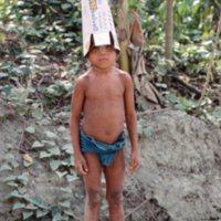 Boy with Spam Box on Head