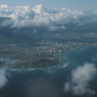Aerial View of Diamond Head, Hawaii