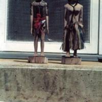 Yapese handicraft, steps, Holt's qurs. Aug. 1950