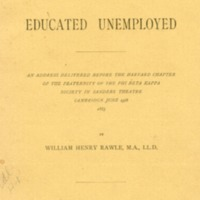 Case of the Educated Unemployed