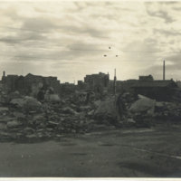 Bombed out area with debris, Tokyo Japan