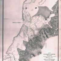 Plan du Havre de La Coquille (Ile Oualan)