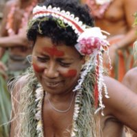 Nimeisae, dancing on Satawal Island. (Identification…