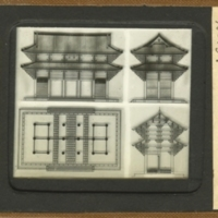 Section, Plan and Elevations of Todai-ji Nandai-mon