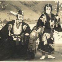 Kaizawa 1-060: Kabuki actors - acting as Soga no goro…