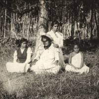 Group in Eucalyptus Park Mataveri Girls in civilized…