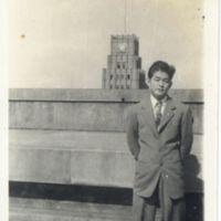 Kaizawa 2-156: Stanley Kaizawa standing on Radio Tokyo…
