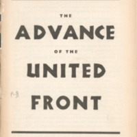 Advance of the United Front: a documentary account.