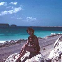 Watercolors! Breakwater. Guam. Dec. 1949