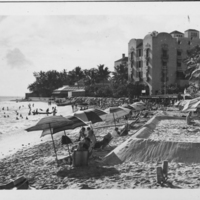 Waikiki Beach and Royal Hawaiian Hotel