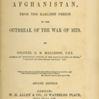 History of Afghanistan, From the Earliest Period to the…