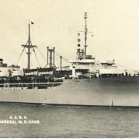 Postcard: U.S.N.S. General W. F. Hase