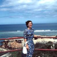 Margo. Old Civil Service Club. Asan, Guam. Jan. 1950
