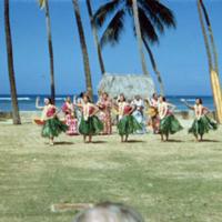Hula dancers, Honolulu. 8 Apr. 1954