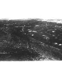 Honolulu from Punchbowl circa 1860