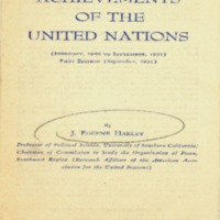 Achievements of the United Nations: February 1946 to…