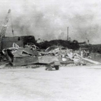 Typhoon appearance of Cabin Mess. ComMar, Guam, M.I. 19…