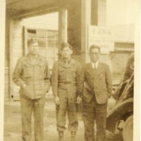 Kaizawa 2-056: Group photo of Earle Ernst, Stanley…