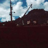 Salvage oprs., Truk Lagoon. Nov. 1950