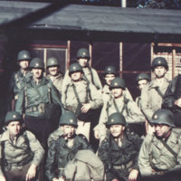 A group of American soldiers in Okinawa (?)