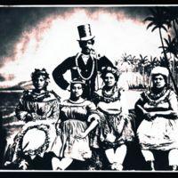 Ioane Ukeke and his hula troop