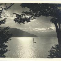 A sailing boat on Chuzenji Lake, Nikko Tochigi, Japan