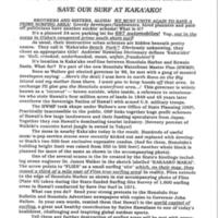 Save our surf at Kaka'ako!