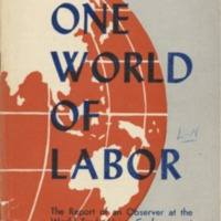 A. F. of L. and one world of labor.