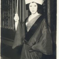 Kaizawa 1-022: Kabuki actor portraying a woman in…