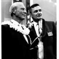 Governor John Burns and Representative Tom Gill at the…