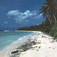 Beach on Satawal - 04