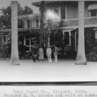 Oahu Sugar Company -Manager E. W. Greene and wife at…