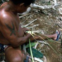 Man Weaving Palm Leaves - 12