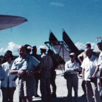 Woody McConnell & Mr. Quick. Saipan. Nov. 1950