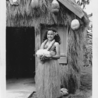 Woman with Coral at Hawaiian Curio Stand